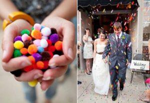 Un giorno un sogno_wedding planner Torino_lancio del riso matrimonio_pom pom