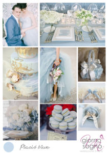 Un Giorno Un Sogno wedding planner Torino ispirational board Mood board placid blue