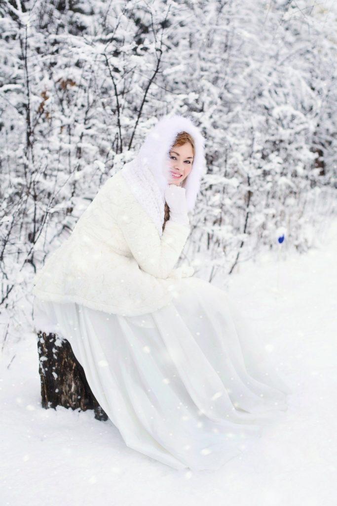 Vestito da sposa invernale